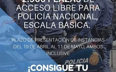 Convocatoria Policía Nacional 2018 Consigue una de las 2.900 plazas