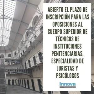 oposiciones cuerpo superior instituciones penitenciarias