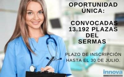 Convocadas 13.192 plazas para el SERMAS: plazo hasta el 30 de julio