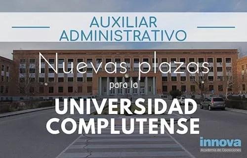 oposiciones auxiliar administrativo complutense