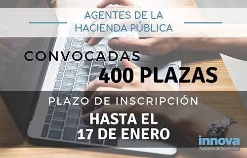 Convocadas 400 plazas de Agentes de Hacienda Pública