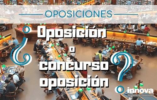 Diferencias entre oposición y concurso oposición