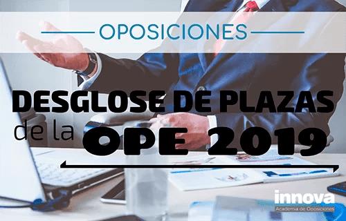 Publicado el BOE con el número de plazas para cada Cuerpo de la OPE 2019