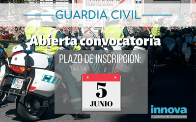 Convocadas las 2.210 plazas de Guardia Civil