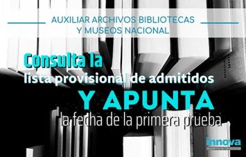 fecha examen archivos bibliotecas y museos