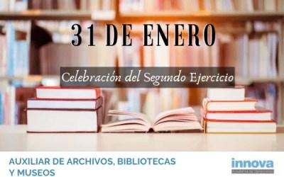 Publicada la lista de aprobados y la fecha del segundo examen de Auxiliar de Archivos, Bibliotecas y Museos del Estado