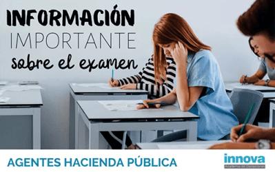 28 de marzo, fecha previsible del primer examen de Agente de la Hacienda Pública