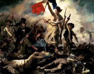 Delacroix - La Libertad Guiando al Pueblo 300