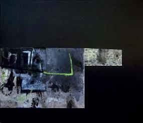 Titolo: Notturno Anno: 2007 Tecnica: acrilico, olio e collage su tela Dimensioni: 130x150 cm