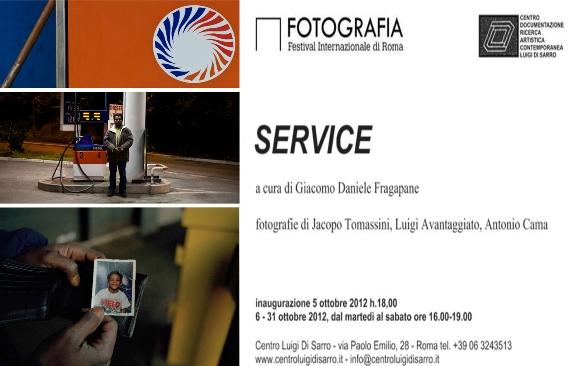 """Service"", Jacopo Tomassini, Luigi Avantaggiato, Antonio Cama, 5 - 31 ottobre 2012"