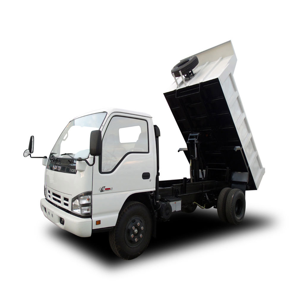hight resolution of dump truck 4 5 cum isuzu nqr