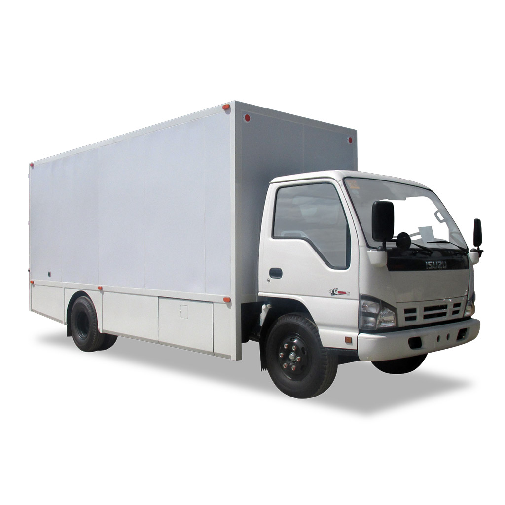 hight resolution of insulated 14 footer composite van isuzu nqr