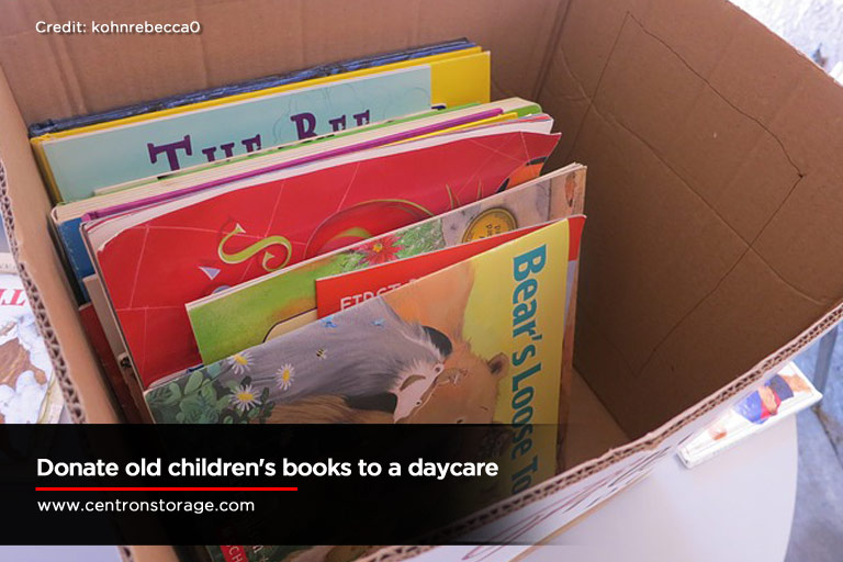 Donate old children's books to a daycare