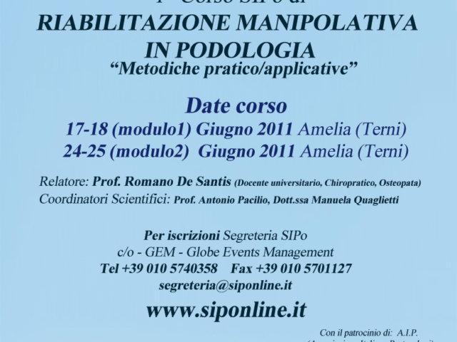 Corso di Riabilitazione Manipolativa S.I.Po.