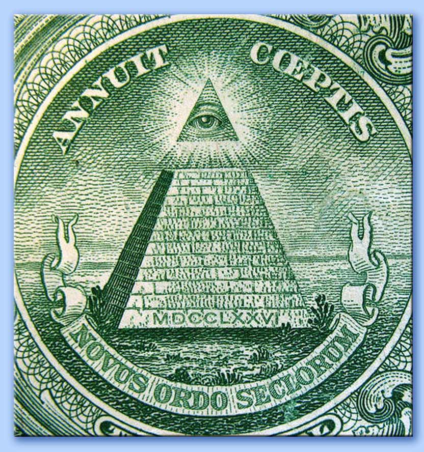banconota da un dollaro - annuit coeptis novus ordo seclorum