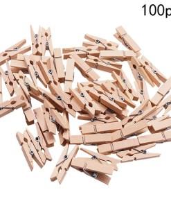 Mollette in legno naturale 35mm
