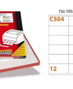 Etichette Markin C504