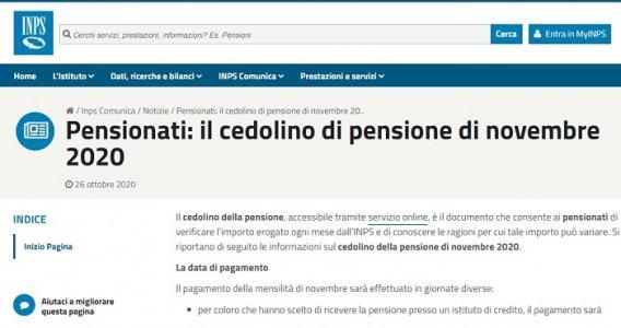 Cedolino pensione novembre 2020: ancora trattenute e rimborsi del modello 730