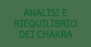 Analisi e riequilibrio dei chakra
