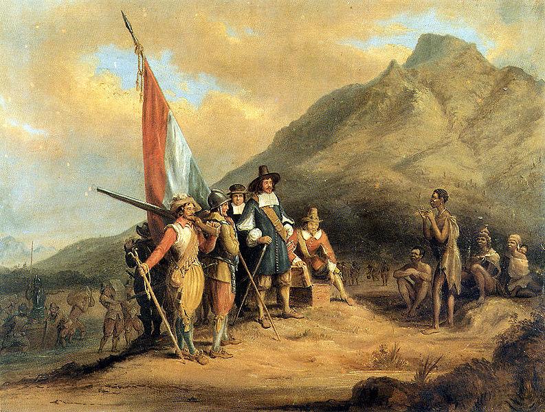 Charles Davidson Bell (1813–1882), Jan van Riebeeck arrives in Table Bay in April 1652.