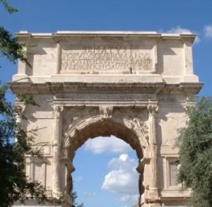 Arco di Tito. Foro romano, Roma.