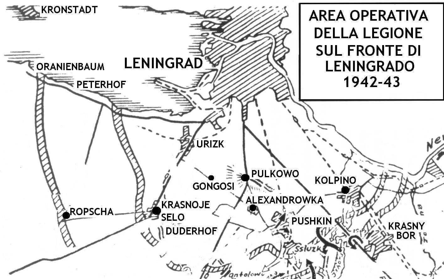 L'area operativa della Legione