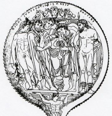 Specchio di Tarchie da Tuscania IV/III sec. a.C. (Museo Archeologico, Firenze)