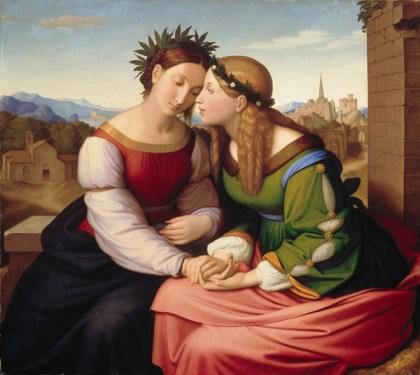 Johann Friedrich Overbeck, Italia und Germania. 1828. München, Neue Pinakothek.