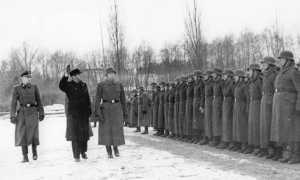Visita di un ministro norvegese alla Legione a Stettino