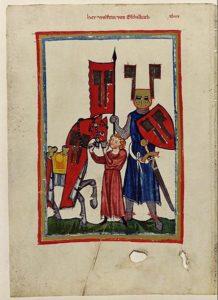 Wolfram Von Eschenbach (Codex Manesse, Fol. 149)