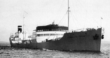 La nave norvegese Alexandra Hoegh, affondata da una mina il 21 gennaio 1941.