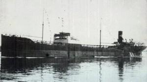 La nave norvegese Astrell, affondata da una mina il 5 novembre 1942.