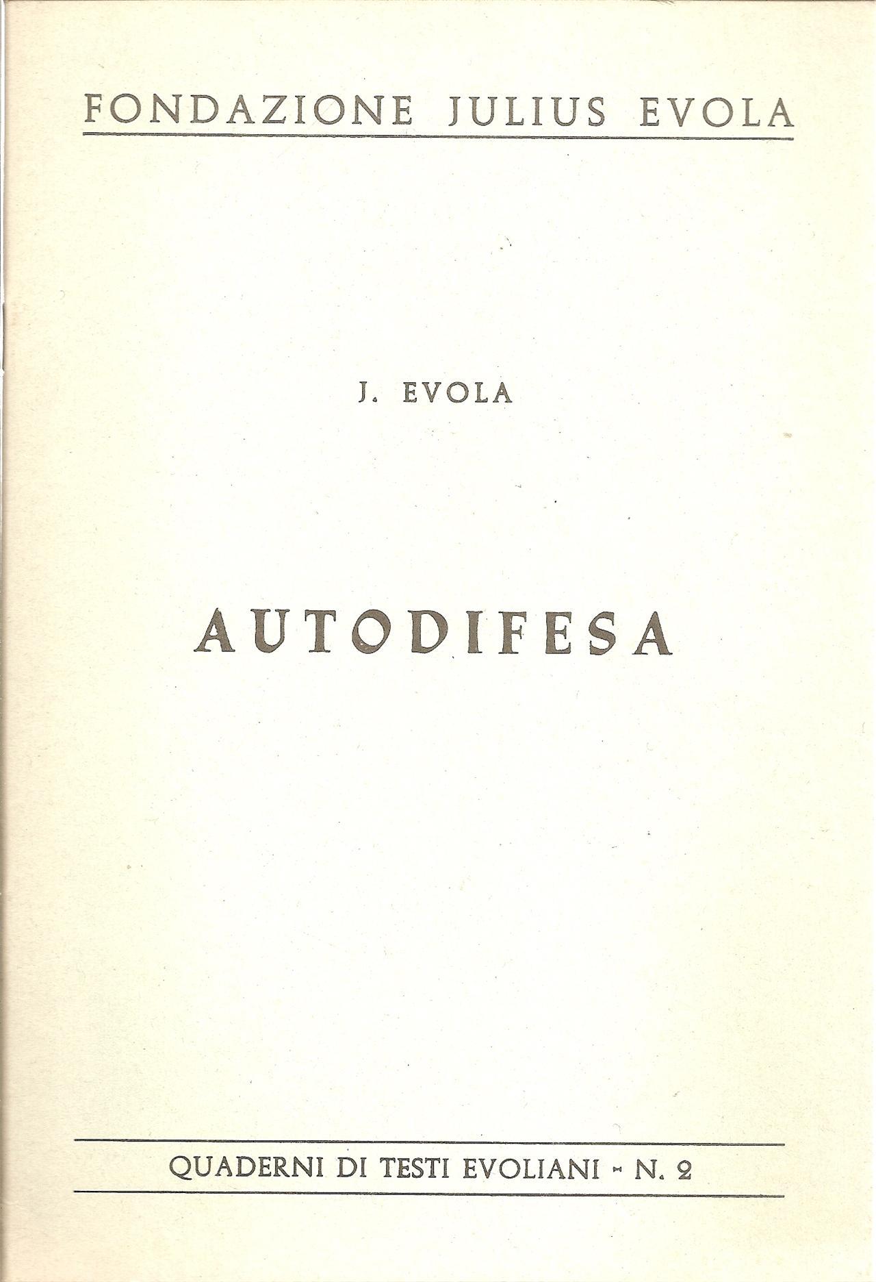 Condannate Julius Evola!
