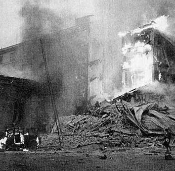 I primi bombardamenti sulle città finlandesi