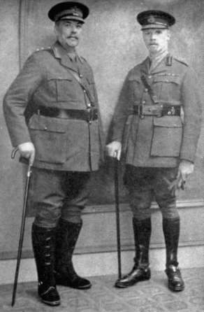 Louis Botha e Jan Smuts, 1917.