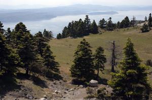 Eubea, panorama dal monte Kantili.
