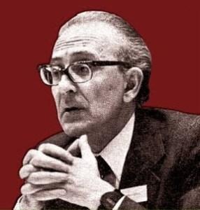 Giorgio Locchi au XIIIe colloque du GRECE à Paris en déc. 1978.