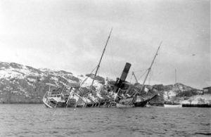L'affondamento del vapore norvegese Kommandøren
