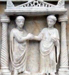 Matrimonio romano. Museo delle Terme di Diocleziano, Roma.