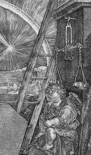 Albrecht Dürer, Melancolia I. Particolare.
