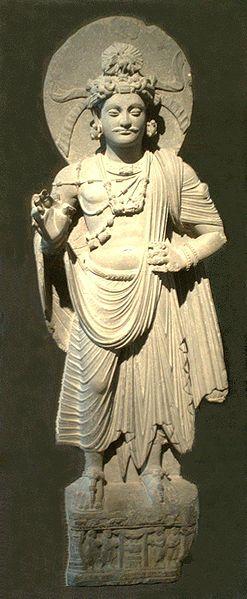 Principe Siddharta. Gandhara, II-III secolo. Arte del Gandhâra, sito di Shahbaz-Garhi. Museo Guimet, Parigi.