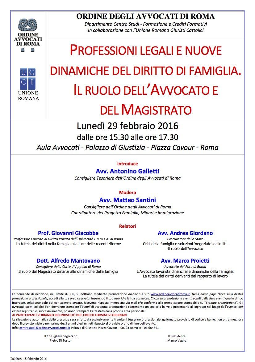 Professioni legali e nuove dinamiche del diritto di famiglia. Il ruolo dell'Avvocato e del Magistrato