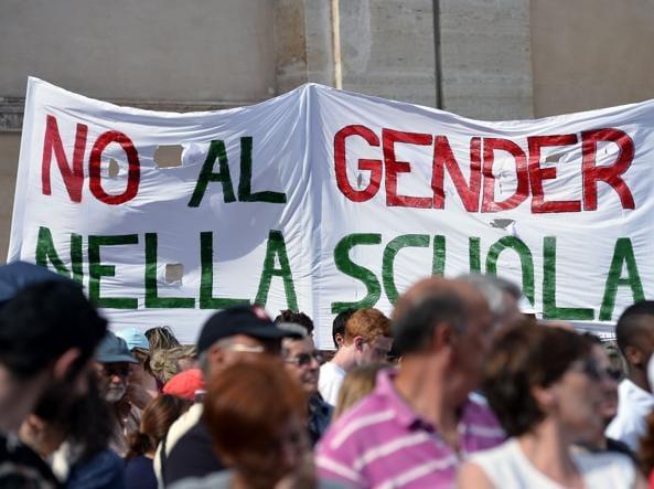 manifestazione no gender nella scuola