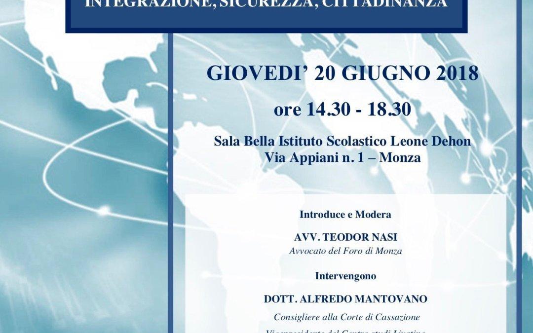 Video del convegno di Monza sull'immigrazione