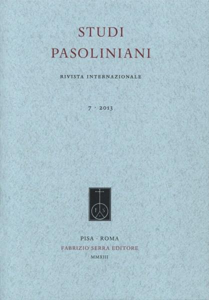 """""""Studi pasoliniani"""". n. 7"""