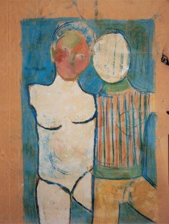 Dipinto giovanile di Pasolini