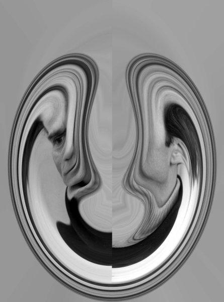 """""""Pasolini diviso"""". Opera di Sonia Caporossi (2014)"""