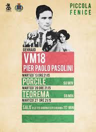 """""""VM18 Pier Paolo Pasolini"""". Manifesto"""