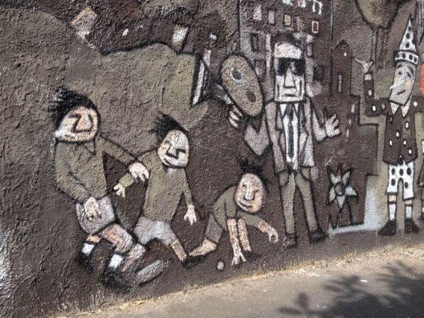 IL Murales di Andrea Cardia al Piineto. Un particolare