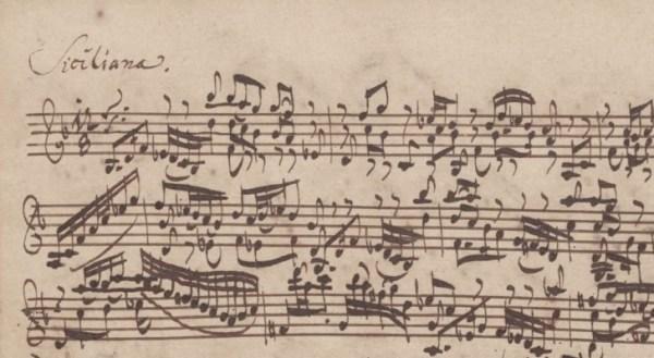Manoscritto BWV 1001. Siciliana
